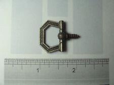 Ads - 20 Small Antique Brass Hexagon Decorative Swivel Plaque Ring Hangers Usa
