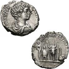 Caracalla Denar Rom 196-8 DESTINATO IMPERAT Lituus Apex Bucranium Simpulum RIC 6