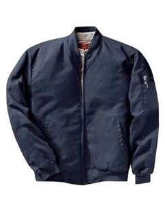 Work Jackets Used Uniform Cintas Unifirst Red Kap Insulated Perma Line Bomber