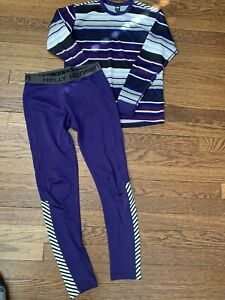 Good used condition Helly Hansen Base Layer Set Size Kids 12. (Pulls On Pants )