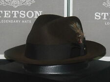 66ab0d840ff Legendary Indiana Jones Stetson Temple Soft Fur Felt Fedora Hat Mink 7 1 2