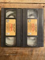 "Berenstain Bears VHS Tapes Set of 2 - ""Learn About Strangers"" & ""The Messy Room"""