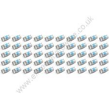 50 x Blue 12v 10mm T10 Wedge Base LED Bulbs for Arcade Push Buttons - MAME