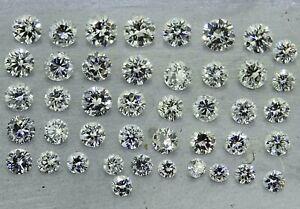 fine round brilliant cut diamonds D-H SI2-VVS2 2.20ct natural loose diamonds