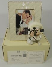 Lenox Disney Mickey Mouse Minnie's Dream Wedding 5x7 Picture Frame New Box W/Coa