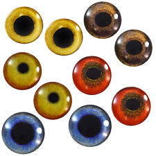 Lot 5 Pairs of 25mm Bird Glass Eyes Taxidermy Prop for Crafts Sculptures Jewelry