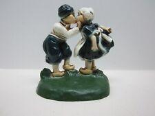 Vintage Dutch Boy & Girl Cast Iron Bookend/Door Stop