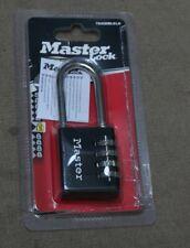 Master Lock Zahlenschloss aus Zink schwarz 30mm Bügel 24mm D 5mm 647EURD