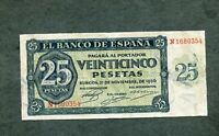 BILLETE 25 PESETAS 1936  N1680354 EBC
