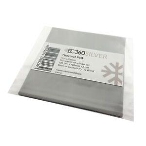 EC360® SILVER 12W/mK Wärmeleitpad (100 x 100 x 2,0 mm) I ThermalPad GPU RAM CPU
