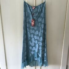 Brand New with tags Monsoon Silk Skirt Pretty Mermaid green size 12