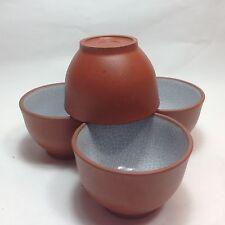 4 pcs Yixing purple Clay Pottery Ware Tea cups TE26-1