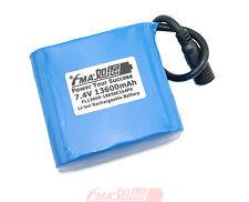 Panasonic NCR18650B 7.4V 13.6Ah Protected Li-ion battery to Bike Light 2S4PXM US
