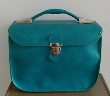 Vintage Turquoise Teal Carson Carry On Bag With Key Excellent Condition
