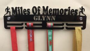 Personalised Thick Acrylic 2Tier 5mm MALE  Miles Of Memories Medal Hanger / Rack