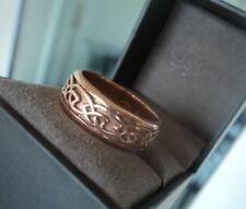 LARGE  Clogau Welsh 9ct Rose Gold Celtic Eternal Love / Annwyl  Ring  -  size U