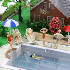 P50YY 20pcs O Scale Swimming Figures 1:48 People Model Layout