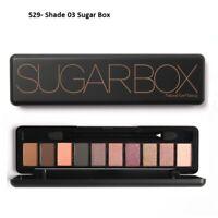 Sugar Box Makeup Eye-shadow Palette Natural Eye Makeup 10Color Shimmer-Xmas Gift