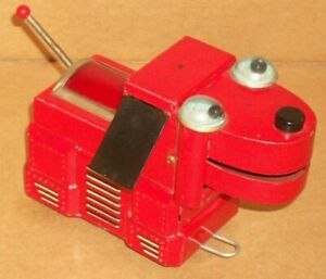 1950's Robot Space Dog red Tin Litho Yoshiya KO Japan Works