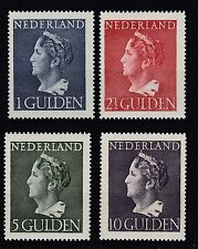 Niederlande 1946 postfrisch MiNr. 453-456  Freimarken  Königin Wilhelmina