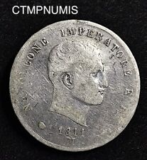 ITALIE   NAPOLEON I°  ROI    5 LIRE  ARGENT    1811 M  MILAN