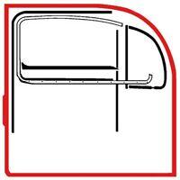 VW Käfer Türdichtung RECHTS ab Baujahr 1966 für Beifahrerseite          020-5084