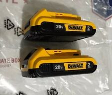 GENUINE DeWALT DCB203-2 20V MAX XR Lithium Battery 2 Pack 2018 Date Code