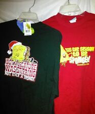LOT of 2 New Long sleeve CHRISTMAS Spongebob Squarepants shirts NEW from 2002 MD