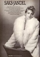1983 Saks-Jandel Renee Simonsen Kim Alexis Print Advertisement Vintage VTG 80s