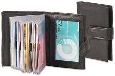 Rimbaldi® Kreditkartenetui in Schwarz mit verstärkten Fächern aus feinem Leder