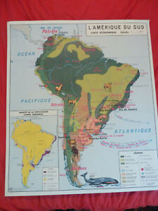 old school map South America economy Africa policy ancienne carte scolaire