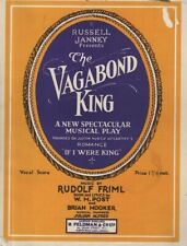 "SHEET MUSIC ALBUM - ""THE VAGABOND KING"" - MUSIC BY RUDOLF FRIML - FELDMAN (1926)"