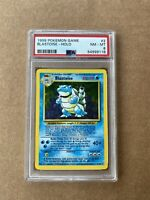 BLASTOISE 1999 Pokemon Unlimited Base 2 II Set HOLO #2/102 - PSA 8 Near MT