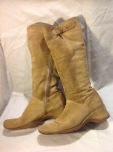 Next Brown Knee High Suede Boots Size 5