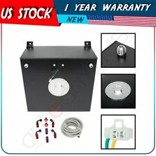 15 Gallon/57L Aluminum Fuel Cell Gas Tank+Level Sender+Steel Fuel Line Kit Black