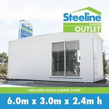 Brand New Colorbond Kit Shed - Glass Sliding Door
