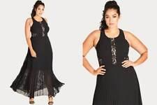 CITY CHIC  SEXY  LACE  PLEAT  SKIRT   MAXI  DRESS    Sz XL  22W   NEW   $149