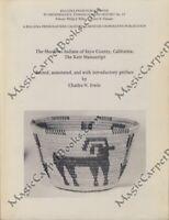 SHOSHONI INDIANS OF INYO CNTY CALIFORNIA Ethnology HISTORY Native Americans KERR