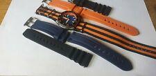 Para Hombre Seiko 7002 Pedales Divers Watch Dagaz Domo Cristal Azul Naranja 4 Correas