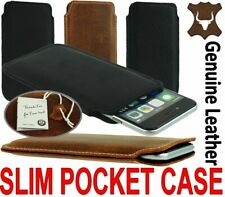 SLIM PREMIUM GENUINE LEATHER POCKET CASE COVER SLEEVE POUCH FOR SAMSUNG GALAXY