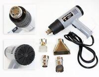 1500 Watt Dual Temperature Heat Gun w/ Accessories Shrink Wrapping 572F- 920F