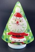 1959 NAPCO Christmas Tree Bell Santa Holiday Theme Vintage Signed Salt Shaker