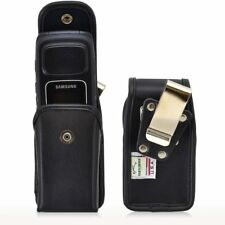 Genuine Leather Rugged Snap Case for Samsung Convoy 2