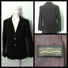 "Levi Strauss Vintage 1970""S Corduroy Blazer Women's Large Big E Brown INV#Z1255"