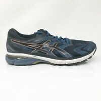 Asics Mens GT 2000 8 1011A690 Black Blue Running Shoes Lace Up Low Top Size 10