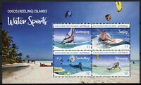 Cocos Keeling Islands 2019 MNH Water Sports Surfing Windsurfing 4v M/S Stamps
