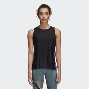 adidas Wmns Top Tech Tank top New Black Grey Women Sportswear CW3856