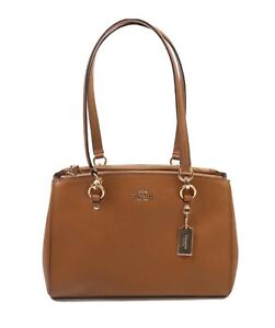 Coach Etta Carryall Saddle Brown Leather Purse new $398