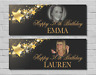 Personalised Birthday Party Banner 18th/21st/30th/40th/50th/60th Stars