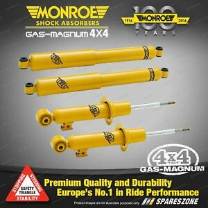 Monroe F + R GAS MAGNUM TDT Shocks for Mitsubishi Pajero NM NP NS NT NW NX MY